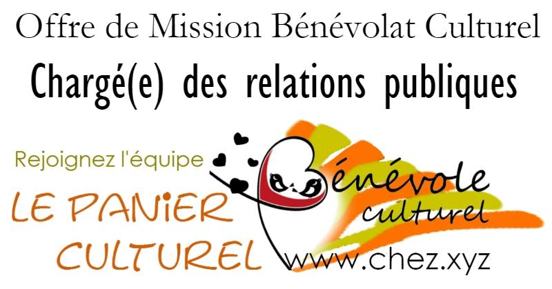 Offre de Mission Bénévolat Culturel - Chargé(e) des relations publiques