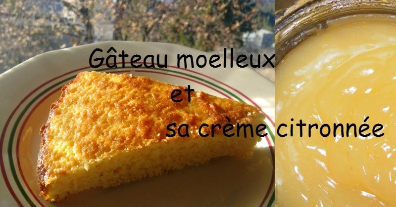 Gâteau moelleux au citron - recette facile