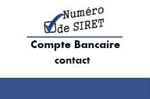 Siret, Adresse, Compte bancaire