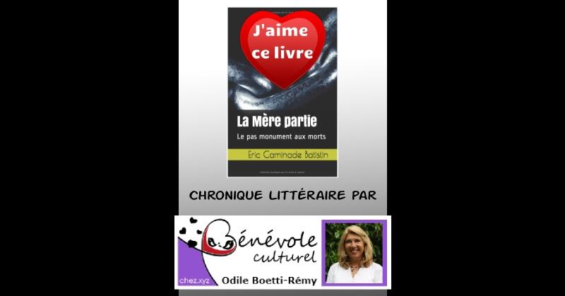 """Odile Boetti Chronique littéraire sur """"La Mère partie"""""""