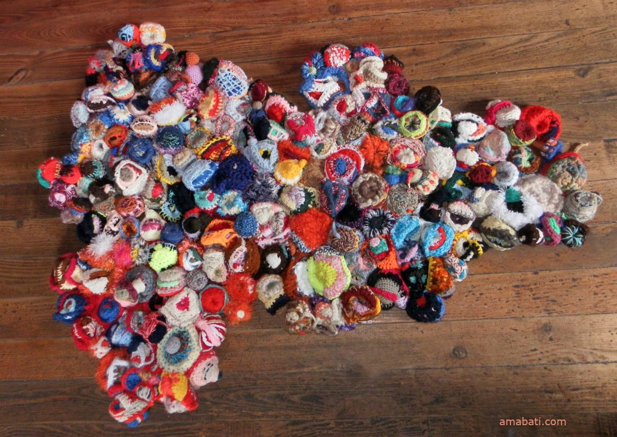 tapis en sculptures de laine